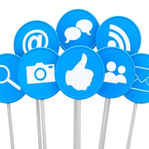 social media profile icons